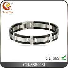 Luxury Crystal Stainless Steel Bracelet For Men By CNC