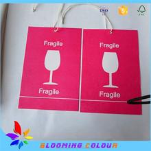 china wholesale custom hair hang tag / paper hang tag / garment hang tag for clothing