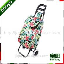 folding shopping trolley cart for promotion bag fit