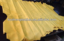 FULL GRAIN LEATHER FOR SHOE MATERIAL YELLOW COLOR