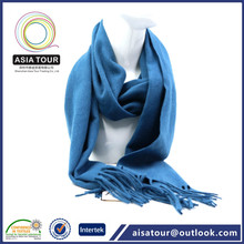 Alta calidad lana llanura moda yong tubo de la bufanda