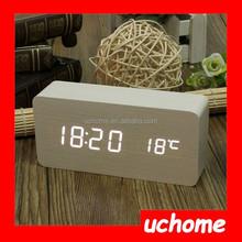 UCHOME Digital table wood alarm clock & Household adornment wood clock