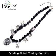 2015 nuovo religiosi ossido di argento cavo disegni collana di perline