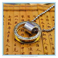 MECY LIFE stainless steel lord of the ring pendant necklace