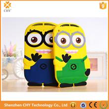3D Cute Cartoon Despicable Me Minion Soft Silicone Cover Case For Apple ipad mini