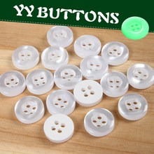 round shape and flatback white polyester resin shirt button from yiwu china button factory