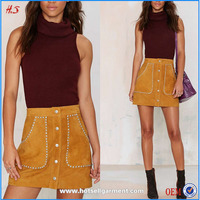 Sleeveless acrylic new model neck blouses and latest design girls top for neck designs for ladies tops
