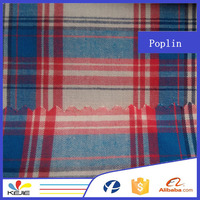 100% cotton yarn dyed fabric for school students shirt