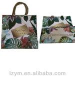 brazil style laminated opp film pp woven shopping bag