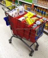 High quality supermarket trolley cart bag reusable satchel bag reusable shopping trolley bag