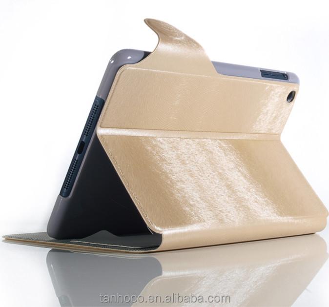 2015 el más caliente funda protectora de cuero para el Ipad Mini