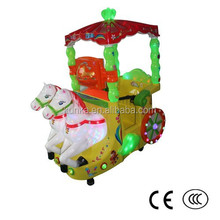 KUNKA Coin Operated Mechanical Horse Kiddie Ride for Sale