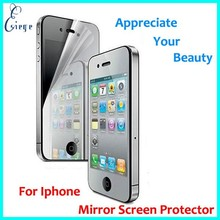 Mobile accessories Factory wholesale Mirror screen protector for iphone 6 , gold mirror screen protectors