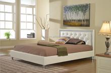 Modern bedroom furniture,Bedroom furniture set,white leather king size beds MB8006