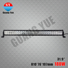 China manufacturer 31.9 inch 180W auto mounted led light bar IP68, CE, RoHS