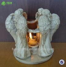 cuatro de resina de ángel decoración religiosa titular de la vela