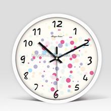 12'' Multicolor Metal Clock-Dots(White Paint)