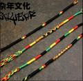 moda artesanal de reggae jamaicano design rasta tecido pulseira