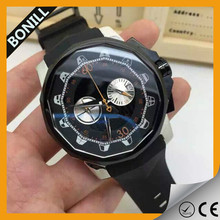 New Products Oversize Bezel Men Sport Wrist Watch Casual Silicone hour clock