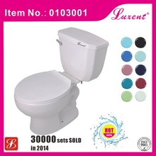Ceramic sanitary ware bathroom cheap siphonic two piece toilet