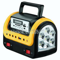 CK-2001 Solar power emergency light power supply with SD USB function