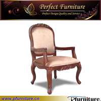 carved antique wooden french style armchair PFC15107