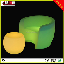 Multi colors changing LED round bar lounge chair/LED glowing chair