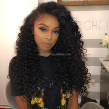 Top Fashion Brazilian 20 inch Deep Curly Natural Color Malaysian Human Hair Wig For Black Women