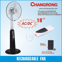 changrong rechargeable led stand fan for wholesales