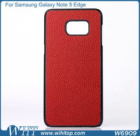 for Samsung Galaxy Note 5 Edge Case Plastic Leather Skin Luxury Phone Accessories Wholesale