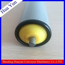 20 diameter PVC pipe spring loaded conveyor roller for airport luggage handling