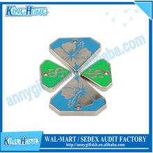 Customized design hard enamel logo metal pet ID tag