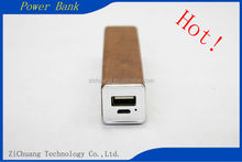 Manufacturer Wholesale Factory Price Colorful portable 2600mah Top selling 18650 Li Polymer Beautiful wood square pipe Power