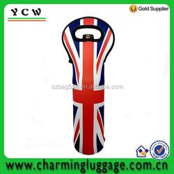 Personalized single bottle tote insulated neoprene wine bag