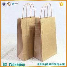 Manufacturer Packaging bag wholesales custom paper bag brown kraft paper shopping bag