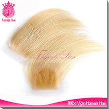 Top quality blonde silk base closure 5x5 inch malaysian silk top lace closure