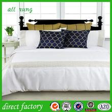 Embroidered bed sheet 100 polyester tricot brushed fabric European style