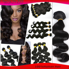 100%Human Brazilian Hair Extension Body Wave Black Human Hair Weave For Men Wholesale