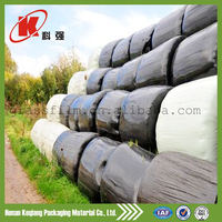 colored strong roll round bale plastic wrap film
