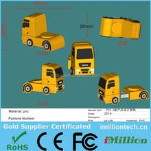 plastic truck shaped usb flash drive, truck shape usb stick 1gb, truck usb pen drive1gb