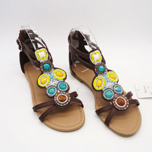 sequins bright color relax sandal