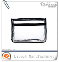 2016 promotional hot sale clear pvc zip lock cosmetic bag