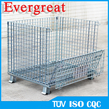 Evergreat Warehouse Foldable Steel Wire Mesh Container/Cage