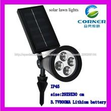 lámpara solar del césped al aire libre para jardín, IP44 lámpara solar del césped para el jardín