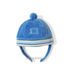 toddler infant babies polar fleece beanie hat with ball top