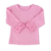 2015 hot sale New Fashion Ruffle Baby Girl Kids Shirt Cute Fancy Western Latest Tunic Tops Designs