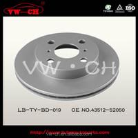 auto parts disc car brake disc for toyota 43512-52050