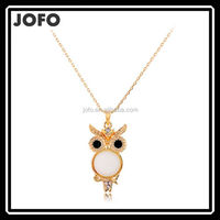 New Arrival SXIA Brand Fashion Big Eyes Retro Owl Necklace Vintage Pendant Necklaces Nature Opals Fine Jewelry For GIRL