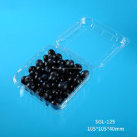 square plasic cherry box