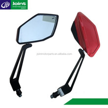 Red Plastic Universal Motorcycle Mirrors Bar End Mirrors Motorcycle Rearview Mirror